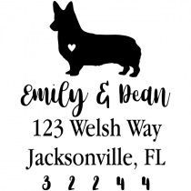 Corgi Love Address Stamp