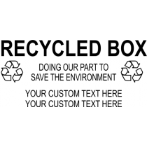 Custom Recycled Box Rubber Stamp