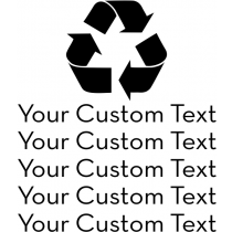 Custom Text Recycle Symbol Rubber Stamp