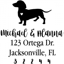 Dachshund Love Address Stamp