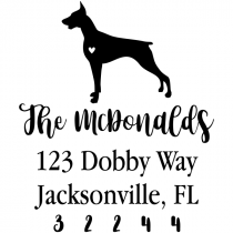 Doberman Love Address Stamp