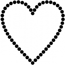 Dotted Heart Stamp