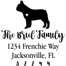 French Bulldog Love Address Stamp
