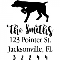 German Shorthair Pointer Love Address Stamp