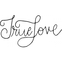 Hand Lettered True Love Stamp