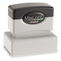 MaxLight Custom Pre-Inked Stamp - MAX-125S -  Black Ink