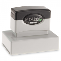 MaxLight Custom Pre-Inked Stamp - MAX-165S -  Black Ink