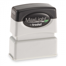 MaxLight Custom Pre-Inked Stamp - MAX-75S -  Black Ink