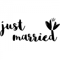 Just Married Craft Stamp