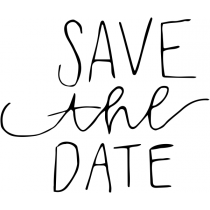 Mixed Letters Save the Date Stamp