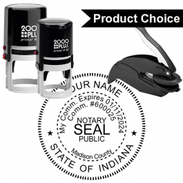 Indiana Notary Round Seal