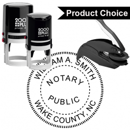 North Carolina Notary Round Seal