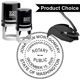 Washington State Notary Round Seal