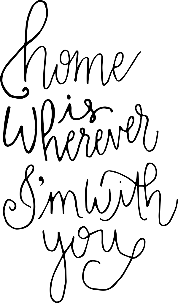 Home is Wherever I'm With You Stamp