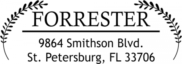 Forrester Leaf Return Address Stamper