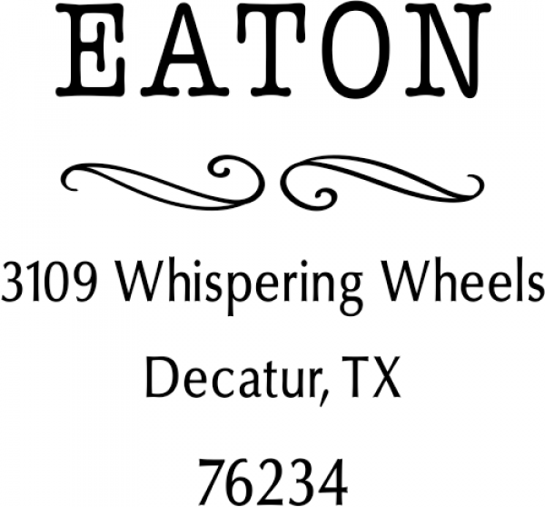 Eaton Deco Curly Q Address Stamp
