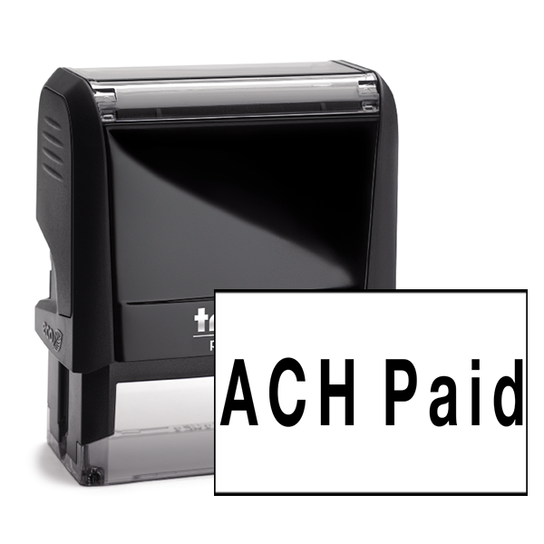 ACH Paid Rubber Stamp