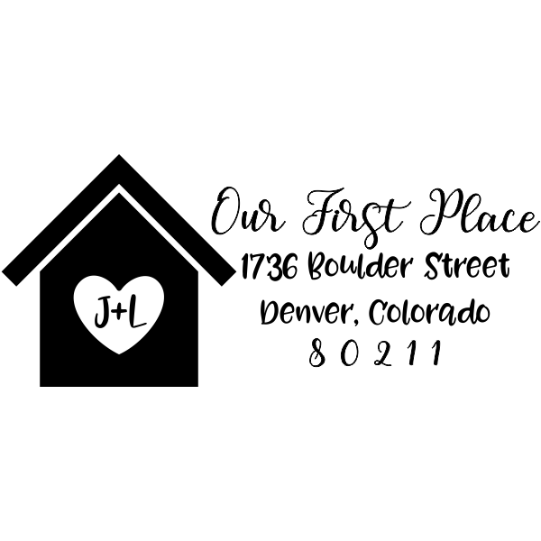 Custom Our First Place Craft Stamp