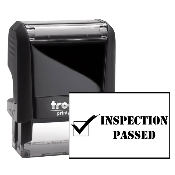 Inspection Passed Rubber Stamp