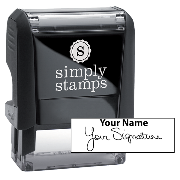 Small Signature Stamp Top