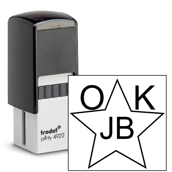 OK Initial Star Inspection Stamp
