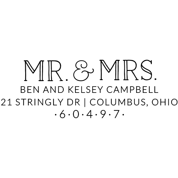 Campbell Wedding Address Stamp