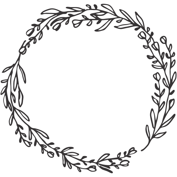 Olive Branches Wreath Stamp