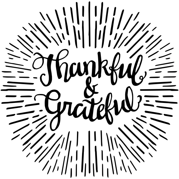 Thankful & Grateful Craft Stamp
