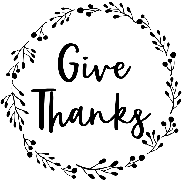 Give Thanks Wreath Craft Stamp