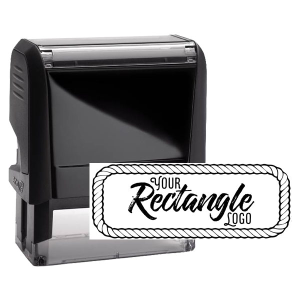Rectangle Logo Custom Stamp with Rope Border