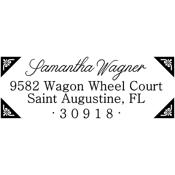 Wagner Fancy Border Address Stamp