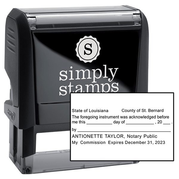 Louisiana Acknowledgment Notary Stamp