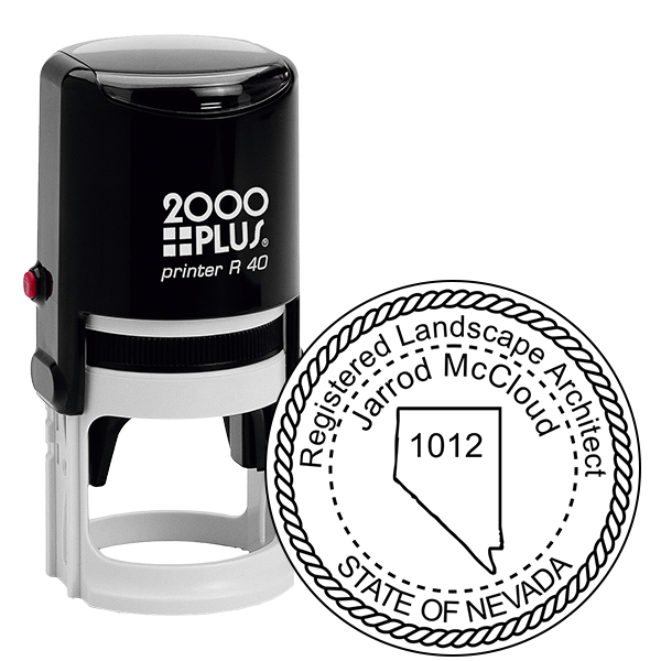 State of Nevada Landscape Architect Seal Stamp