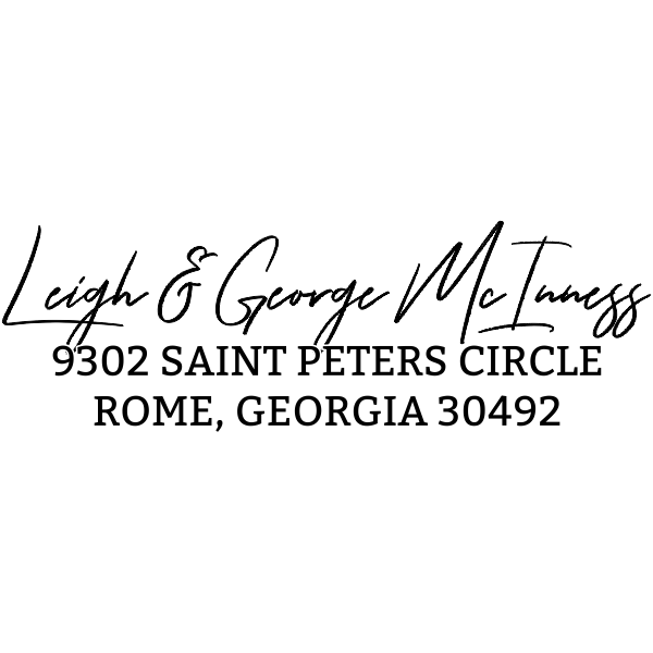 Saint Peters Address Stamp