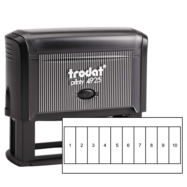 Tall Rectangles for Card Loyalty Stamp