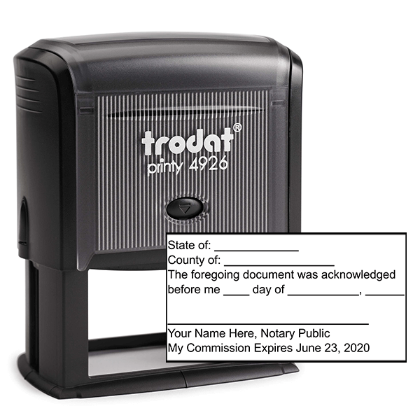 Acknowledgement Stamp for Affidavit Notary Public