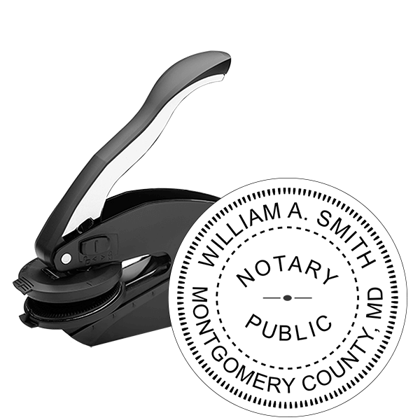 Maryland Notary Round Seal Embosser