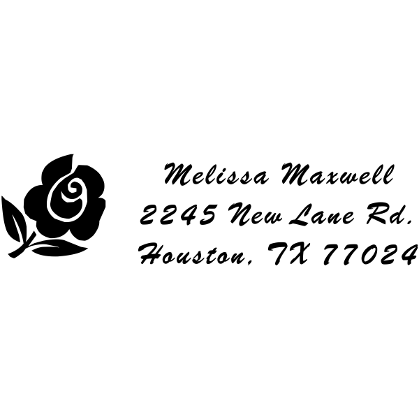 Rose Bud Address Stamp
