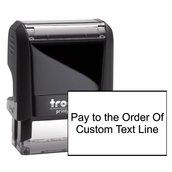 Pay To The Order Of Stamp