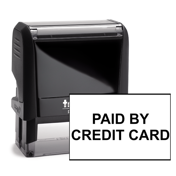 Paid By Credit Card Stock Stamp