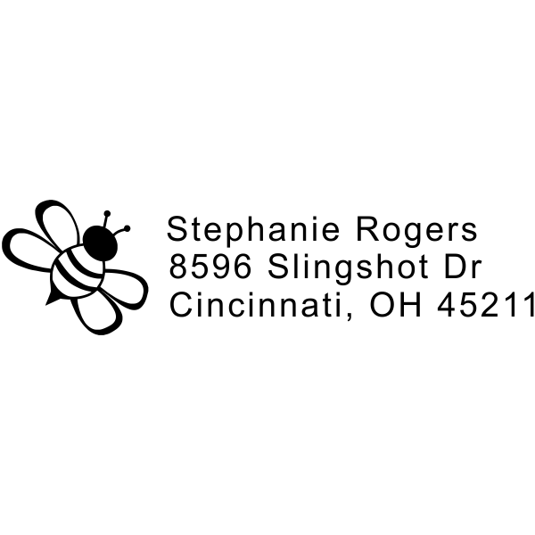 Bumble Bee Address Stamp
