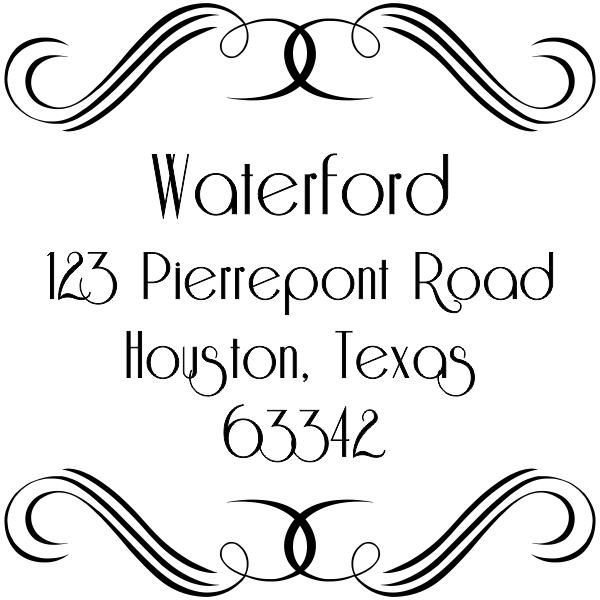 Waterford Curves Address Stamp