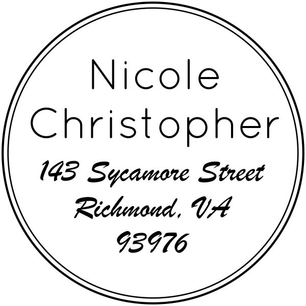 Sycamore Round Address Stamp