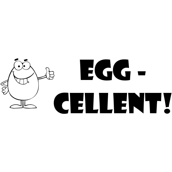 Feedback - EGG-CELLENT Rubber Teacher Stamp