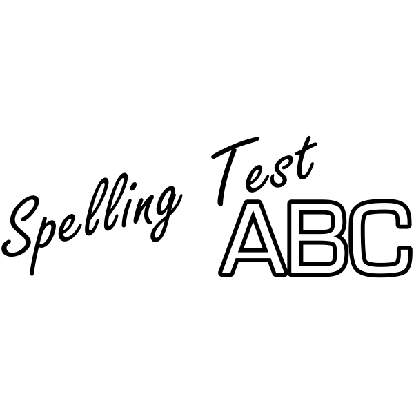 Assignment - ABC Spelling Test Rubber Teacher Stamp