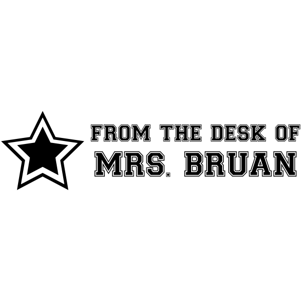 From The Desk Of - Sports Star Rubber Teacher Stamp