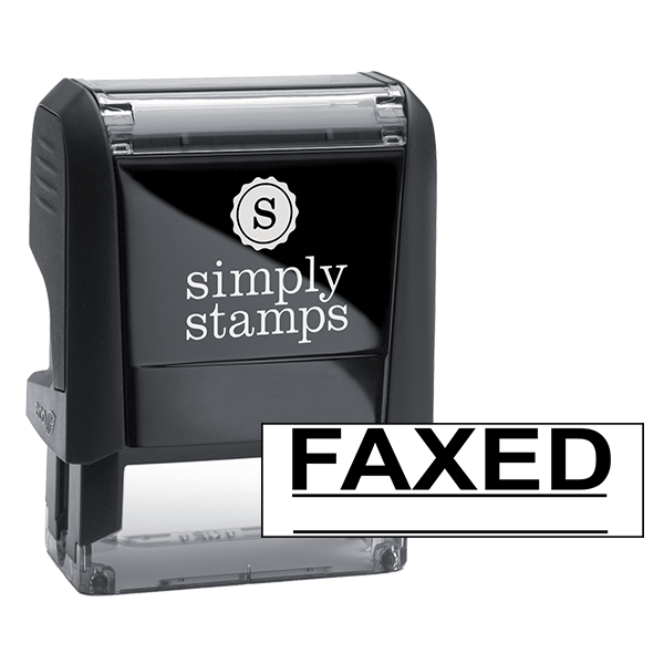 FAXED Underlined Stock Stamp