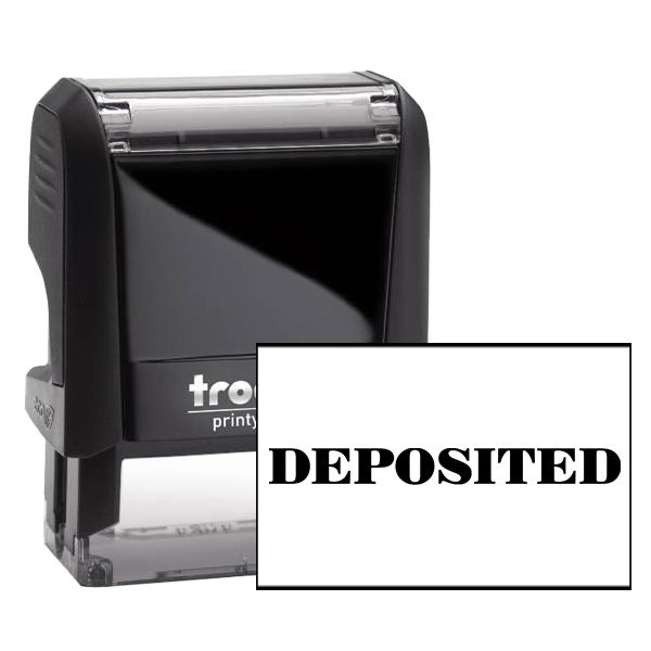 DEPOSITED Mobile Check Deposit Rubber Stamp
