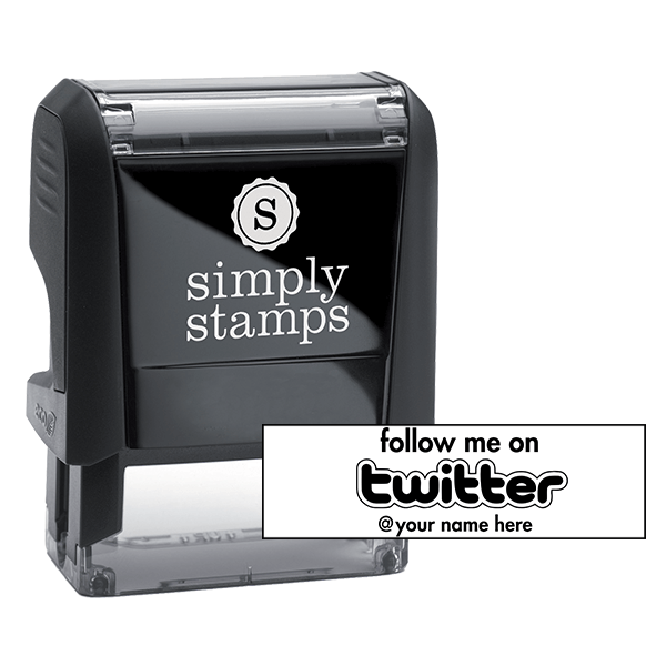 Follow Me On Twitter Self-Inking Stock Stamp