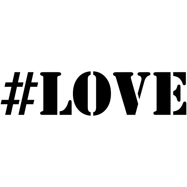 LOVE Hashtag Rubber Stamp